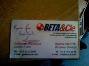 Autographe Maxime Valette